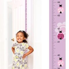 Patent Pending Mom Approved Ladybug PeekaBoo Growth Charts Track & Measure your Kid's Height. Fits in Standard Door Jamb, Removable & Reusable, Self-Adhesive [72 x 1.25 Inches] available on Etsy, Amazon, Ebay and www.momapproved.net