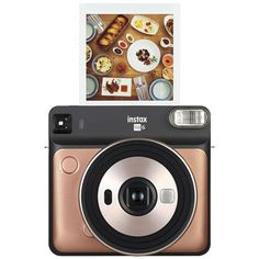 Appareil photo instantané Fujifilm Instax Square Or - Appareil photo instantané - Achat & prix Camara Fujifilm, Top Tech Gifts, Double Exposition, Landscape Mode, Gold Models, Home Camera, Walmart, Instant Camera, Color Filter