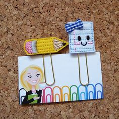 Felt Pencil and Paper Bookmark | Paper Clip |Organizer | Calendar | Planner Accessory | Filofax This adorable felt is the perfect sweet way to