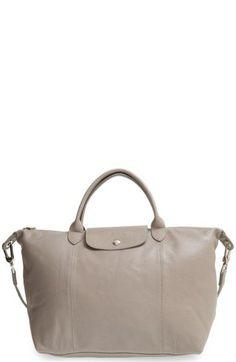 LONGCHAMP 'Le Pliage Cuir' Leather Handbag. #longchamp #bags #leather #