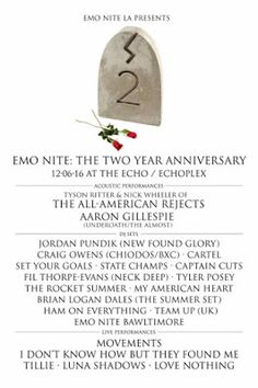 Emo Nite LA Announces Two-Year Anniversary Event Line Up