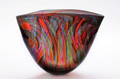 Bob Crooks 'Jurassic Art-Glass Bowl II' ♥≻★≺♥