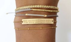 Thin and layered look. Personalized Gold Bar Bracelet / Inspiration, Name Bar Bracelet / Personalized Jewelry. The Large Legacy Bar Bracelet, Layered + Long Ring Armband, Gold Armband, Diy Schmuck, Schmuck Design, Jewelry Accessories, Fashion Accessories, Fashion Jewelry, Jewelry Ideas, Gold Fashion