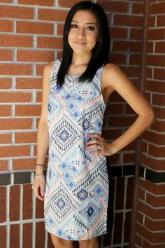 Aztec Appeal Shift Dress