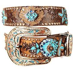 Kippys belt in bronze & turquoise.