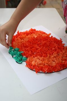 Pumpkin Crafts and FREE Printables...tissue paper pumpkin, must do this.