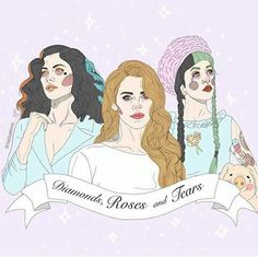 marina and the diamonds, lana del rey, and melanie martinez