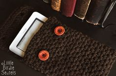 Little Birdie Secrets: nook or kindle case {crochet pattern}