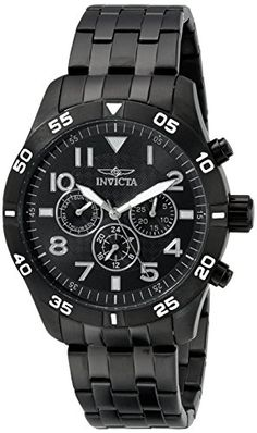 Men's Wrist Watches - Invicta Mens 19206 IForce Analog Display Swiss Quartz Black Watch * You can find more details by visiting the image link.