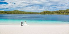 Daiki proposed to Shinobu at Lake McKenzie- it's not hard to see why it's their favourite spot on Fraser Island.  Pictures: Envision Photography #Fraserislandweddings #seeaustralia #thisisqueensland
