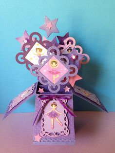 Hand made box card by Lorraine Smallacombe