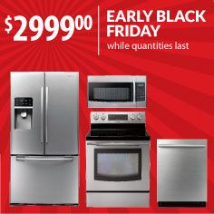 How thankful would you be to have a new Samsung kitchen to prepare your turkey & fixins this year? Don't wait till Nov. 29 - enjoy it now with Early Black Friday from Warners' Stellian.