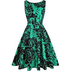 d5cca432697b1 Vintage Tea Dress 1950 s Floral Spring Garden Retro Swing Prom Party  Cocktail Dress