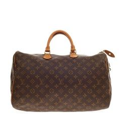 Louis Vuitton Speedy Monogram Canvas 40 Brown Travel Bag. Save 33% on the Louis Vuitton Speedy Monogram Canvas 40 Brown Travel Bag! This travel bag is a top 10 member favorite on Tradesy. See how much you can save