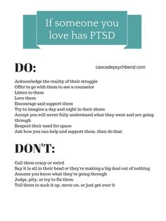 How to love someone with PTSD and things you should not say to someone with PTSD