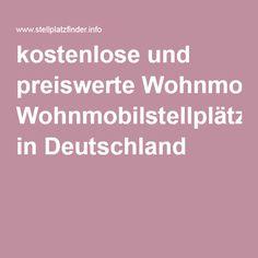 kostenlose und preiswerte Wohnmobilstellplätze in Deutschland