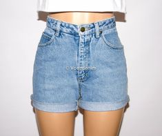 Hey, I found this really awesome Etsy listing at https://www.etsy.com/listing/189708664/vintage-high-waisted-denim-shorts-cuffed