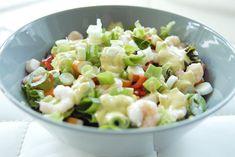 Zomerse garnalensalade met ansjovis mayonaise Mayonaise, Potato Salad, Potatoes, Ethnic Recipes, Blog, Salads, Potato, Blogging