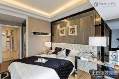 Two bedroom home master bedroom decoration effect chart greatly entire 2012 picture | Bedroom