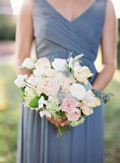 Blush and cream perfection: http://www.stylemepretty.com/2016/07/14/forget-catching-pokemon-catch-these-wedding-bouquets-instead/