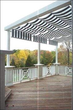 Awning patio pergola covers are in fashion now and people like to make this awning pergola in their house to have shelter against rain and sunshine. Awnings are attached to the house to give protection from the sun light but pergola is detached from Backyard Canopy, Pergola Canopy, Pergola Patio, Backyard Patio, Pergola Kits, Pergola Ideas, Awning Patio, Deck Awnings, Canopy Outdoor