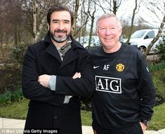 Eric Cantona and Sir Alex Ferguson in 2010