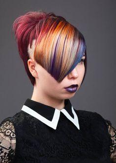 Hiukset ja Meikki: Sarita, Kuva: Jarno Beautiful Hair Color, Rainbow Hair, Tangled, Body Art, Hair Beauty, Abstract, Fashion, Hair Style, Summary