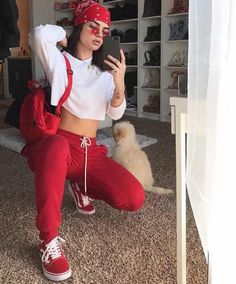 Baddie outfits casual, chill outfits, outfits with red vans, dope outfits, Chill Outfits, Swag Outfits, Dope Outfits, Summer Outfits, Casual Outfits, Baddies Outfits, Outfits With Red Vans, Cute Sporty Outfits, Hip Hop Outfits