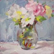 Resultado de imagen de isabel naude art Floral Paintings, Oil Paintings, Mixed Media Art, Flower Art, Still Life, Flower Arrangements, Glass Vase, Vases, Inspiration