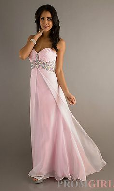 Strapless Open Back Gown for Prom by Blush 9545 at PromGirl.com