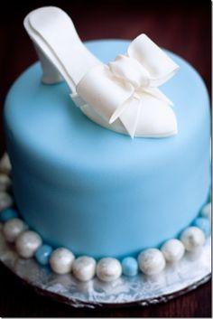 Cinderella shoe cake