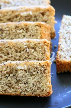 Vegan Almond Poppy Seed Cake. Gluten free Cake. Spongy Moist Cake with no Gum. Use as Sponge Cake without poppy seeds. Vegan Gluten-free Oil-free Recipe. | VeganRicha.com