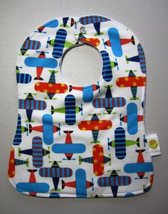 Handmade Baby Bib... only $10.00 This would be adorable for the b'day boy to wear.