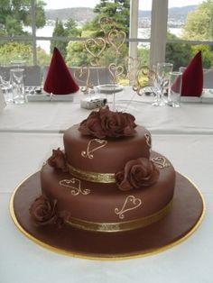 Pasteles de boda de chocolate | fotos - Boda Hoy