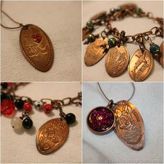 Create Pressed Penny Jewelry from your souvenirs!