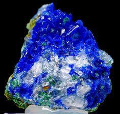Rare linarite crystals on matrix from rare locality. Lustrous crystals. Colourful. Vibrant colors! Rare - one of the best known from Greece....
