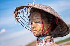 Japanese mannequin scarecrow; this one is really beautiful...may be my favorite