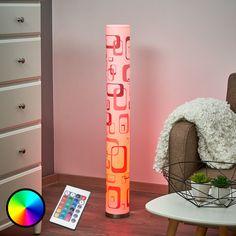 LED-Stehleuchte Mirella mit Retromuster, GU10 RGB Jetzt bestellen unter: https://moebel.ladendirekt.de/lampen/stehlampen/standleuchten/?uid=dd50ba4c-3a23-538d-ad25-426a2149a092&utm_source=pinterest&utm_medium=pin&utm_campaign=boards #stehlampen #leuchten #lampen Bild Quelle: www.lampenwelt.de