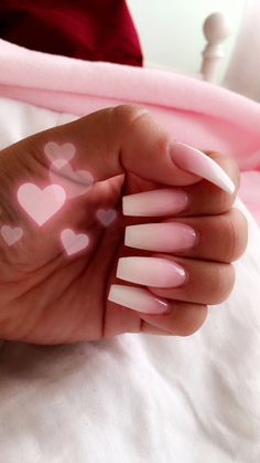 Ombre acrylic nails