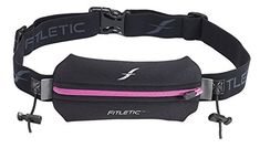 Fitletic Single Pouch with Race Number Holder BlackPink One Size Fits All -- Details can be found by clicking on the image. (This is an affiliate link) #RunningWaistPacks