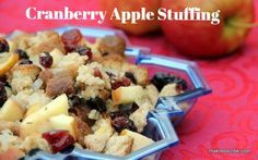 Try this reinvented Thanksgiving favorite! Cranberry Apple Stuffing Recipe makobiscribe.com...