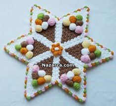 yildiz-dondurmali-lif-modeli Pretty Little, Spinning, Elsa, Fiber, Kids Rugs, Christmas Ornaments, Stars, Holiday Decor, Handmade