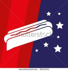 American Hot Dog Vector Icon