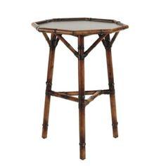 BALLARD DESIGNS Odette Octagonal Table in ANTIQUE BAMBOO