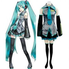 $49.39  Vocaloid Hatsune Miku Cosplay Costume Full Set for Women - Favorbuying.com