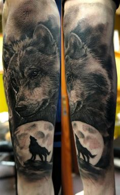 Sleeve Wolf Tattoo