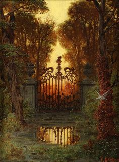 Ferdinand Knab (1834-1902)  — The castle portal,1881 (738×1000)