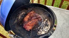 """The goal of a well-smoked beef brisket is a thick moist slab of meat, a crusty """"bark"""", a vivid smoke ring, and meat so smokey, it puts you in a food coma. Grilling Recipes, Meat Recipes, Grilling Ideas, Bbq Ideas, Burger Recipes, Recipies, Weber Recipes, How To Cook Brisket, Bbq Thermometer"""