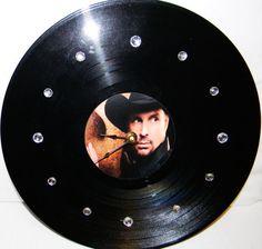 GARTH BROOKS Vinyl Record Wall Clock by PandorasCreations on Etsy, $25.00
