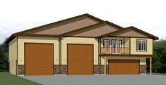 60x50 Apartment -- #60X50H1E Barn House Plans, Tiny House Plans, Cabin Plans, House Floor Plans, Garage Apartment Plans, Garage Plans, Garage House, House 2, Car Garage